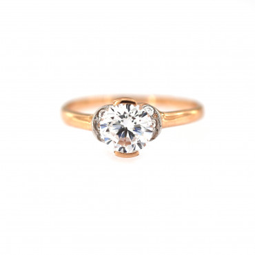 Rose gold engagement ring DRS01-03-07