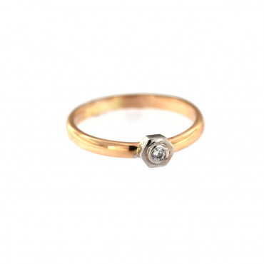 Rose gold engagement ring DRS01-03-08
