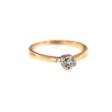 Rose gold engagement ring DRS01-03-10