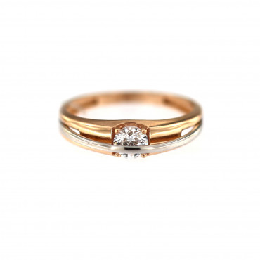 Rose gold engagement ring DRS01-03-11