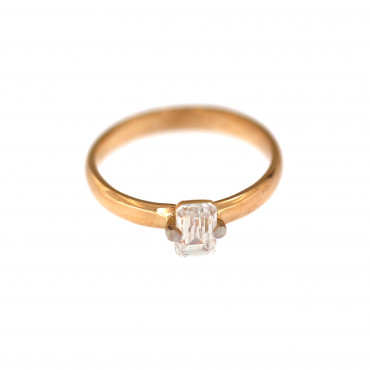 Rose gold engagement ring DRS01-04-01