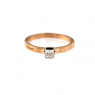 Rose gold engagement ring DRS01-04-02