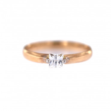 Rose gold engagement ring DRS01-04-03