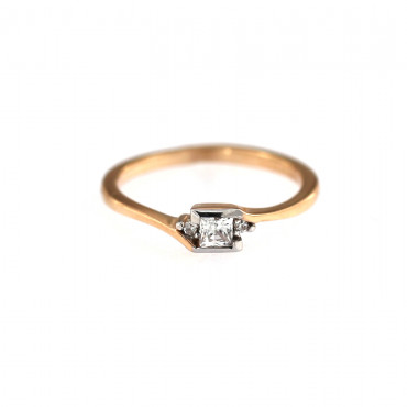 Rose gold engagement ring DRS01-04-05