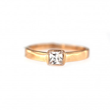 Rose gold engagement ring DRS01-04-06