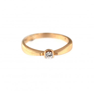 Rose gold engagement ring DRS01-05-01