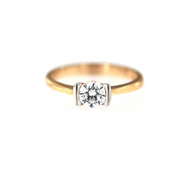 Rose gold engagement ring DRS01-05-06