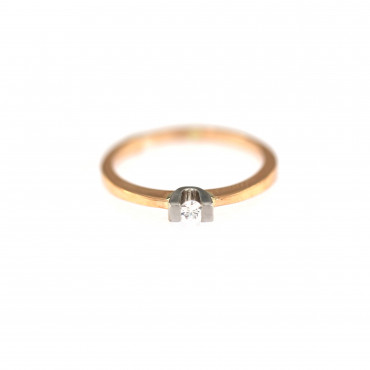 Rose gold engagement ring DRS01-05-07