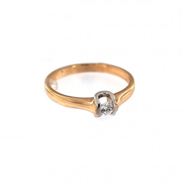 Rose gold engagement ring DRS01-05-10