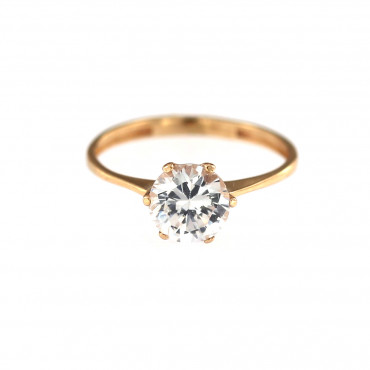 Rose gold engagement ring DRS01-06-03