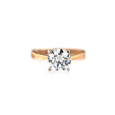 Rose gold engagement ring DRS01-07-01