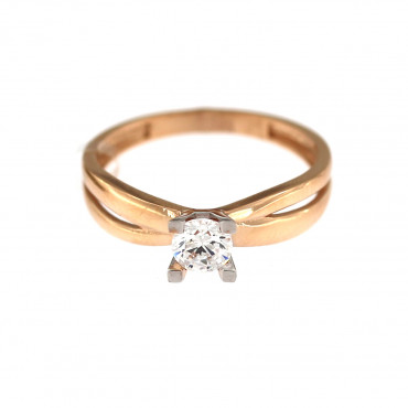 Rose gold engagement ring DRS01-09-01