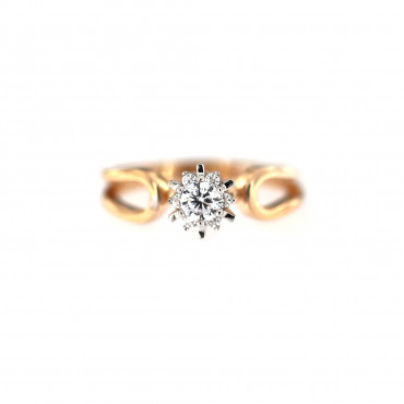 Rose gold engagement ring DRS01-09-02