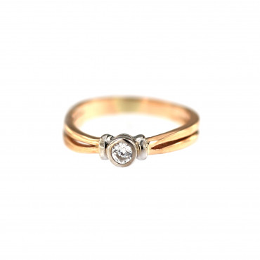 Rose gold engagement ring DRS01-09-06