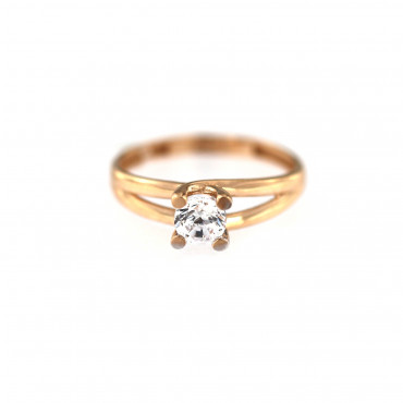 Rose gold engagement ring DRS01-09-07