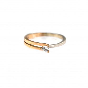 Rose gold engagement ring DRS01-09-09