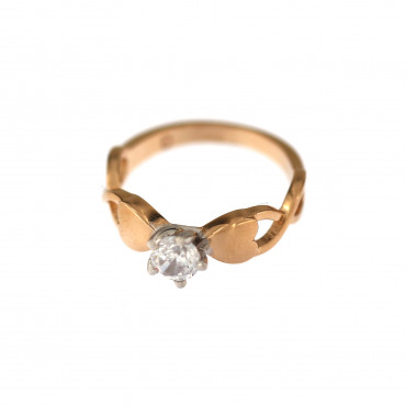 Rose gold engagement ring DRS01-10-02