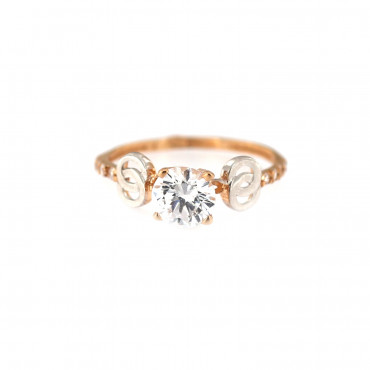 Rose gold engagement ring DRS01-10-03