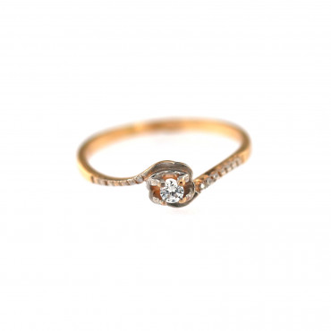 Rose gold engagement ring DRS01-11-05