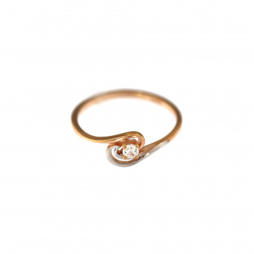 Rose gold engagement ring DRS01-11-06
