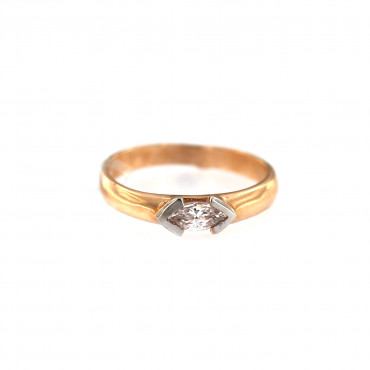 Rose gold engagement ring DRS01-12-02
