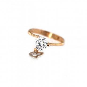 Rose gold engagement ring DRS01-15-03