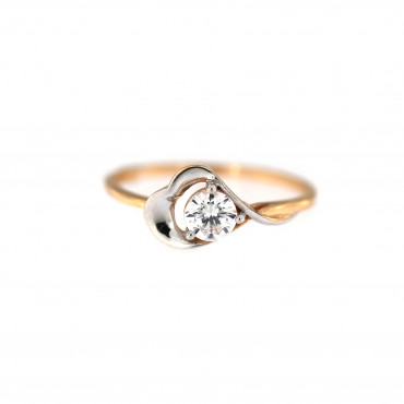Rose gold engagement ring DRS01-15-02