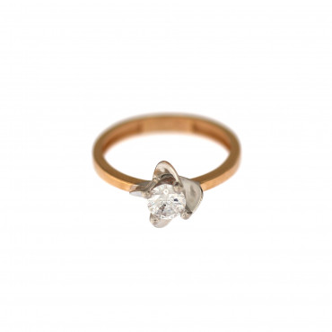 Rose gold engagement ring DRS01-15-01