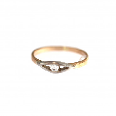 Rose gold engagement ring DRS01-14-02