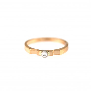 Rose gold engagement ring DRS01-13-05