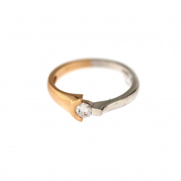 Rose gold zirconia ring DRS01-13-01