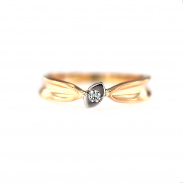 Rose gold engagement ring DRS01-12-04