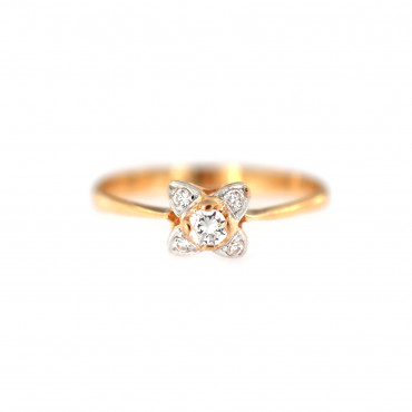 Rose gold zirconia ring DRS02-01-02