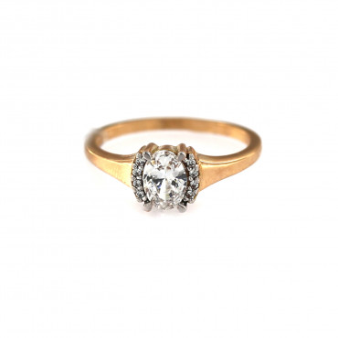 Rose gold engagement ring DRS02-02-01