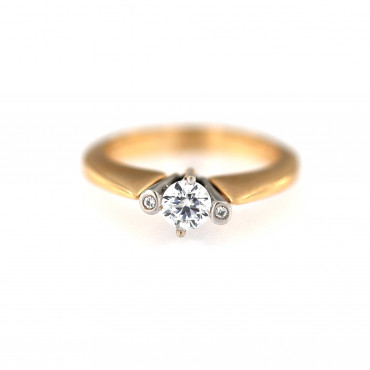 Rose gold engagement ring DRS02-03-02