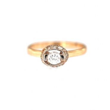 Rose gold engagement ring DRS02-04-07