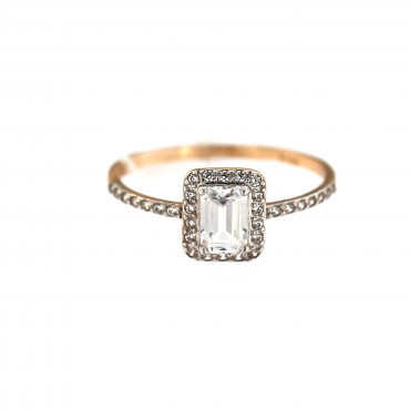 Rose gold engagement ring DRS03-01-01