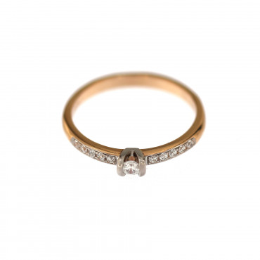 Rose gold engagement ring DRS03-02-02