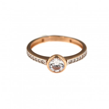 Rose gold engagement ring DRS03-02-06