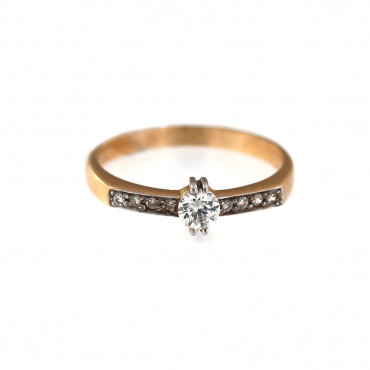 Rose gold engagement ring DRS03-02-10