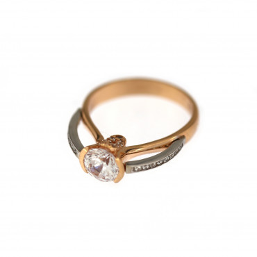 Rose gold engagement ring DRS03-02-11