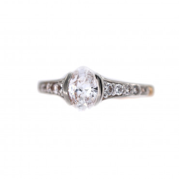 Rose gold engagement ring DRS03-03-01