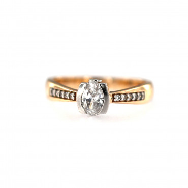 Rose gold engagement ring DRS03-03-02