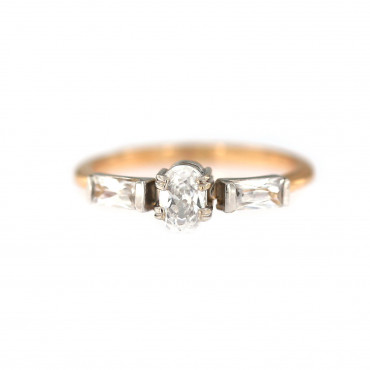 Rose gold engagement ring DRS03-03-03
