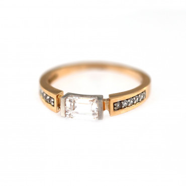 Rose gold engagement ring DRS03-04-03