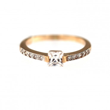 Rose gold engagement ring DRS03-05-02