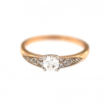 Rose gold engagement ring DRS04-01-02