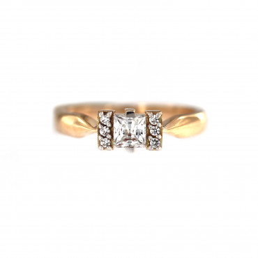 Rose gold engagement ring DRS04-05-01