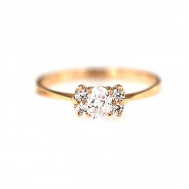 Rose gold engagement ring DRS04-05-02