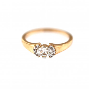 Rose gold engagement ring DRS04-05-03